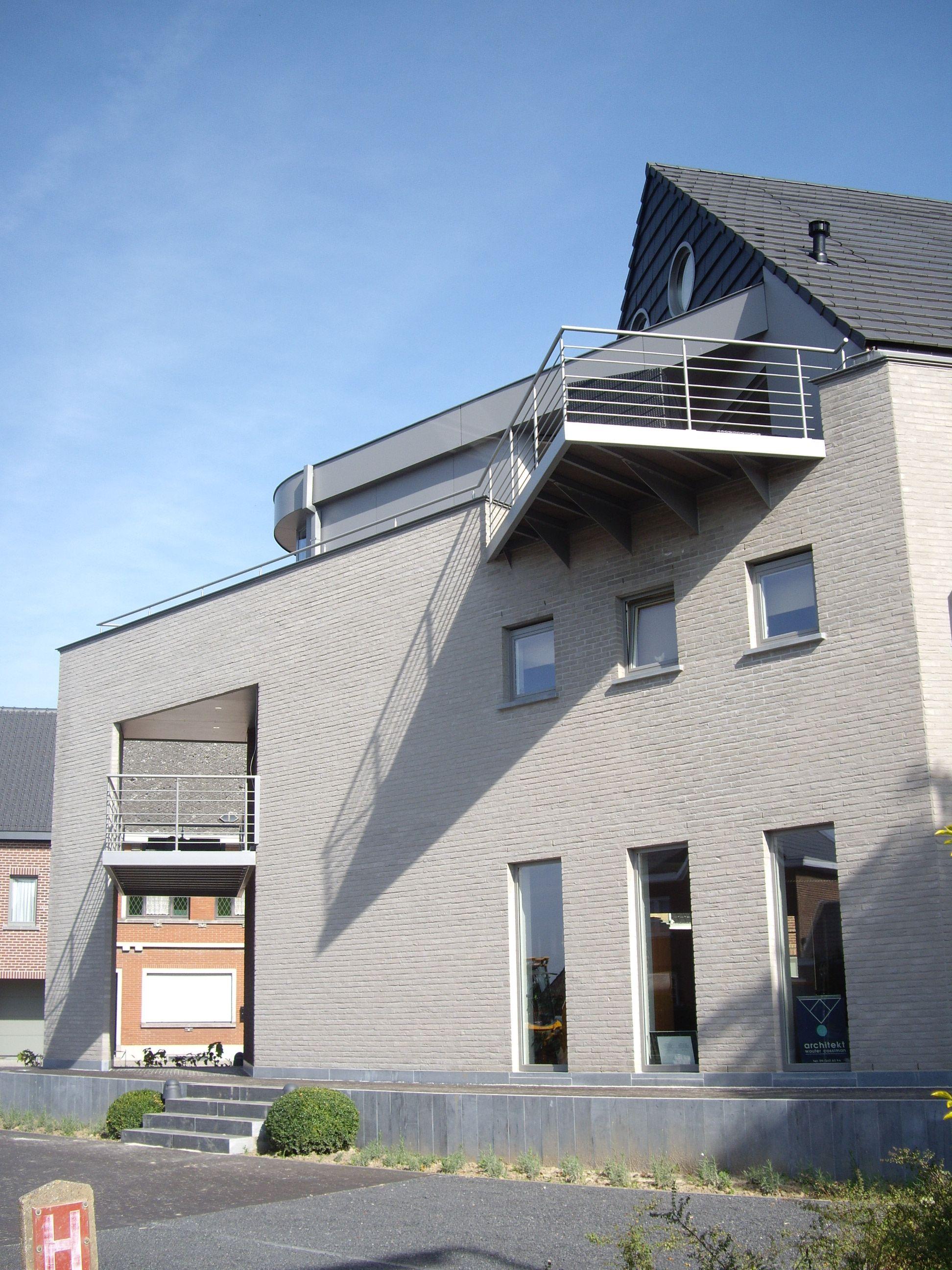 Appartementen en kantoor zottegem architect wouter for Kantoor architect