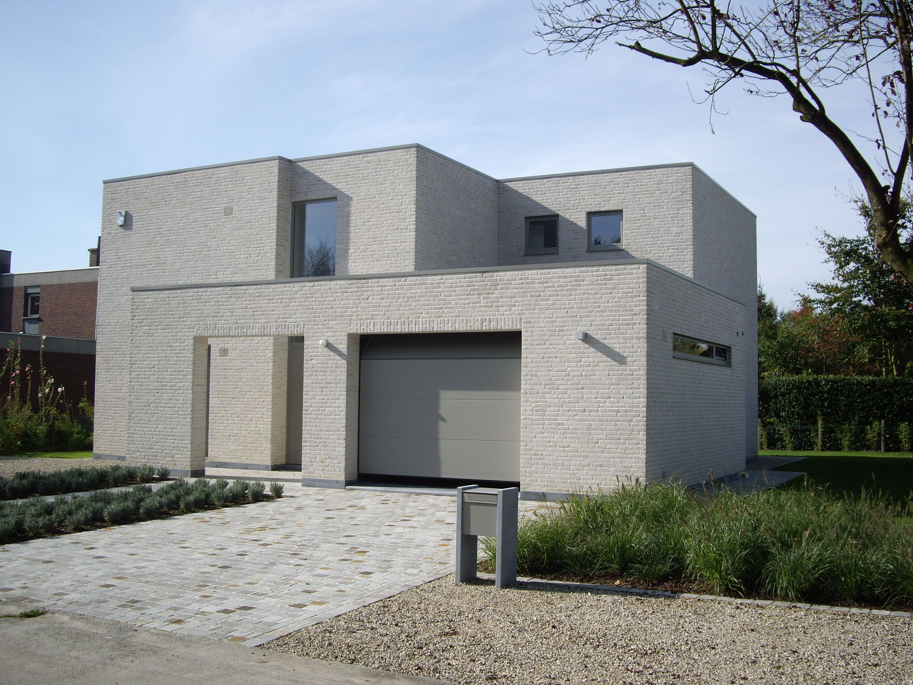 Priv woning drongen architect wouter cassiman architect wouter cassiman - Modern stenen huis ...